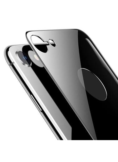 Microsonic Apple iPhone 7 Arka Tam Kaplayan Temperli Cam Koruyucu Siyah Siyah